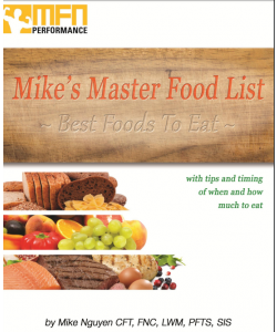 Mike's Master Food List E-Book Guide (Complete List of Best Foods, Drinks, Condiments, Herbs & Supplements) - INSTANT DOWNLOAD