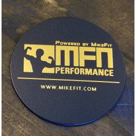 MFN Leather Coasters (For hot or cold mugs, cups, tumblers) - Navy Blue