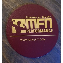 MFN Leather Coasters (For hot or cold mugs, cups, tumblers) - Burgundy