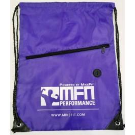 MFN Drawstring Bag w/ Ear Port & Zipper Pocket (Purple)