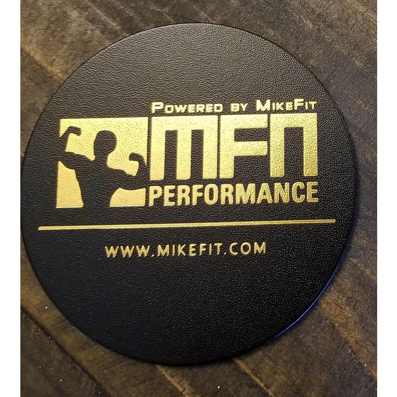 MFN Leather Coasters (For hot or cold mugs, cups, tumblers) - Black