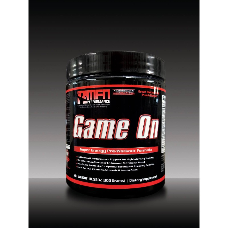 MFN GAME ON (Pre-Workout) - 30 Potent Servings - Fruit Punch