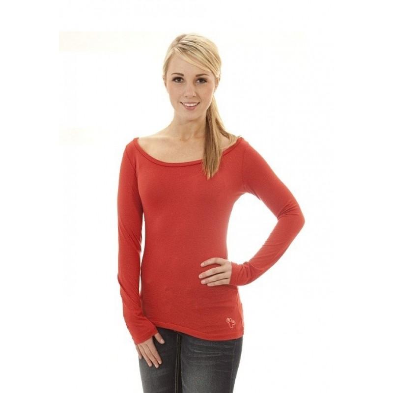 MFN Women's Boat-Neck Long Sleeve PRO - Red