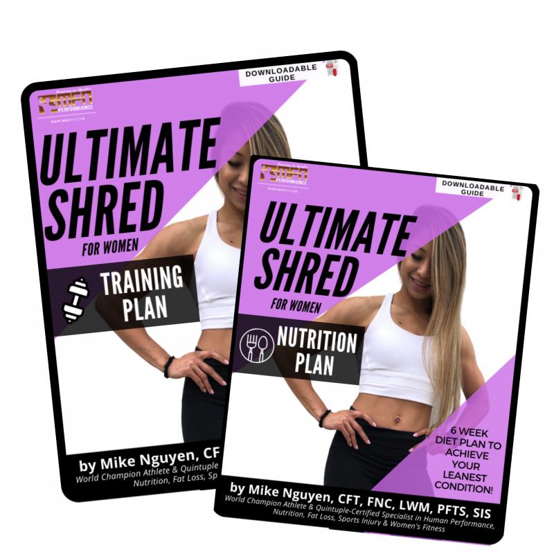 WOMEN'S ULTIMATE SHRED BUNDLE (BOTH Training + Nutrition Plan)
