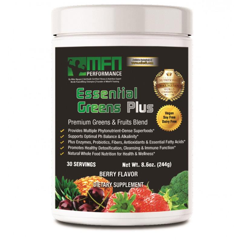 MFN PERFORMANCE ESSENTIAL GREENS (Green Super-Food Drink) - 30 Servings