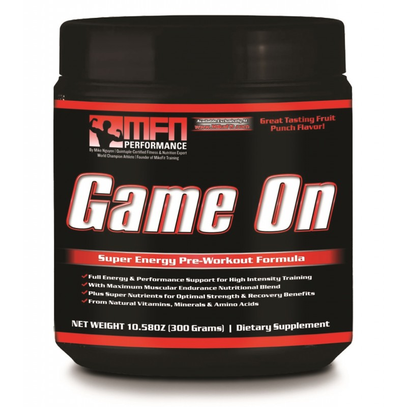 MFN GAME ON (Pre-Workout Drink) - Fruit Punch  | In-Stock Date 5/21/21