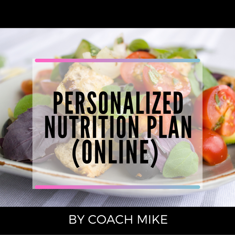 PERSONALIZED NUTRITION PLAN DESIGN (ONLINE)