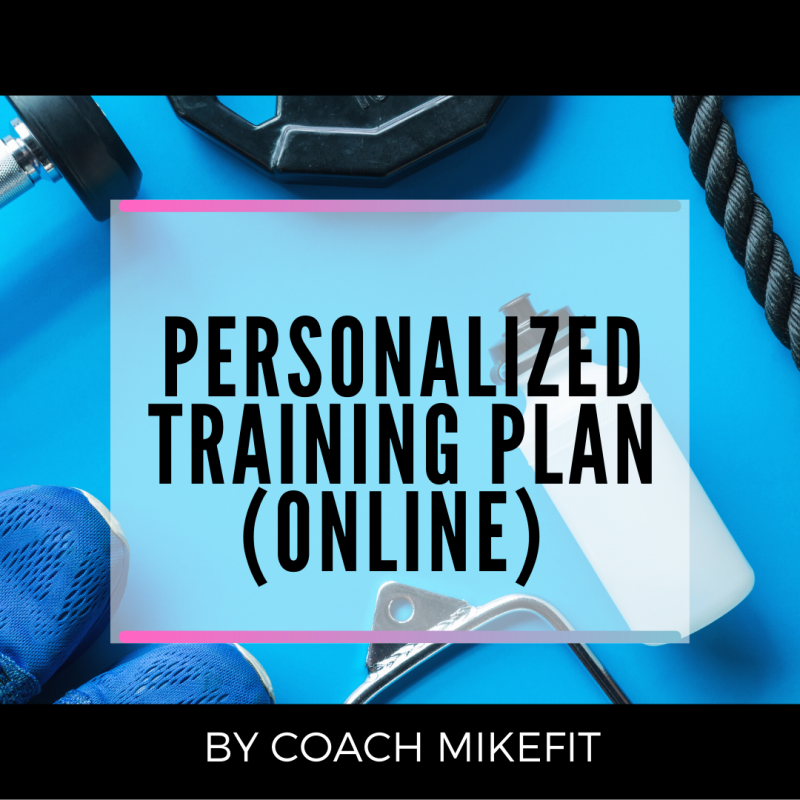 PERSONALIZED TRAINING PLAN (ONLINE)