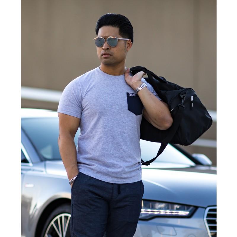 MFN Men's Pocket Shirt - Grey/Blue