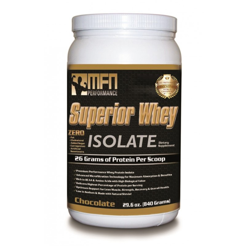MFN 100% NATURAL WHEY PROTEIN ISOLATE (1.8 lbs / 28 Servings - Chocolate)