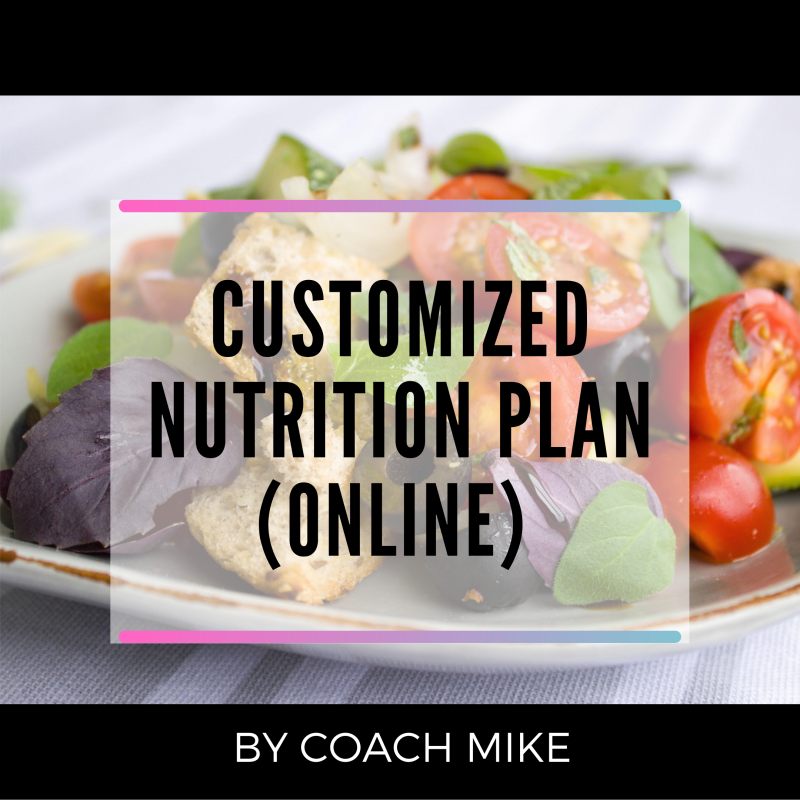 CUSTOM NUTRITION PLAN (ONLINE)