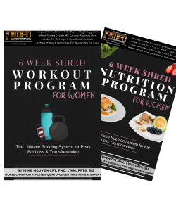 MFN WOMEN'S 6-WEEK SHRED BUNDLE (Advanced Workout + Nutrition System)