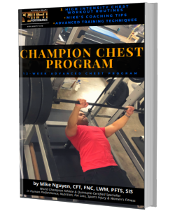 MFN CHAMPION CHEST (3 Advanced Plateau Breaker Routines for Chest) : 12 Week Gym Program - Unisex