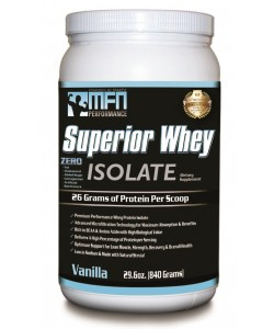 MFN 100% Natural Premium Whey Protein Isolate (1.8 lbs / 28 Servings - Vanilla)