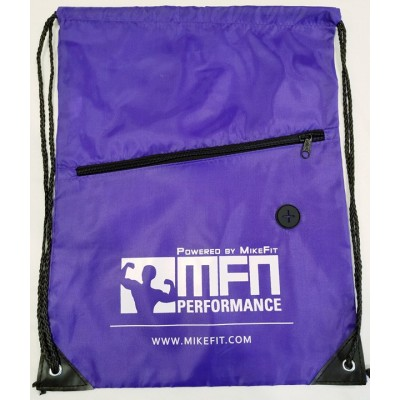 MFN Drawstring Bag w/ Ear Port & Zipper Pocket (Purple)