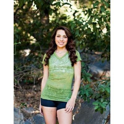 MFN Ladies Burnout Shirt - Green