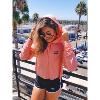 MFN Women's Cropped Hoodie Pullover - Sunset (Medium 6-10)