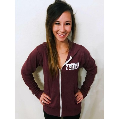 MFN Unisex Lightweight Fitted Hoodie - Maroon (Small)