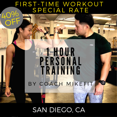 1 Personal Training Session w/ Mike * FIRST-TIME WORKOUT SPECIAL 40% OFF