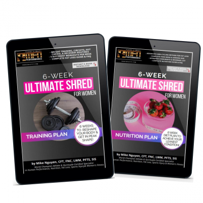 WOMEN'S 6-WEEK ULTIMATE SHRED BUNDLE (Training + Nutrition Program)