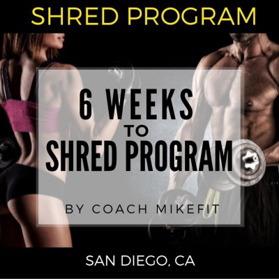 6 Week Shred Personal Training Program ($65 per session or as low as $45 for groups)