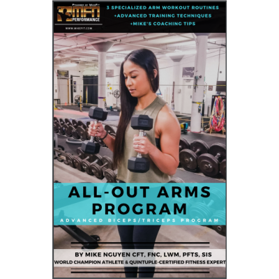 MFN ALL-OUT ARMS (3 Advanced Arm Routines at GYM) - 12 Week Program - Unisex