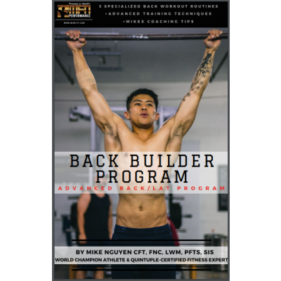 MFN BACK BUILDER (3 Advanced Back Routines at GYM) - 12 Week Program - Unisex