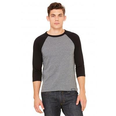 MFN Men's Baseball Shirt - Grey/Black
