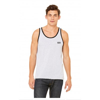 "MFN Men's Premium ""FLEX"" Tank Top - Heather Grey/Black"