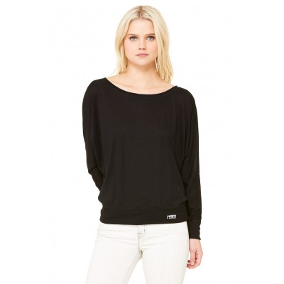 MFN Womens Off-Shoulder Tee - Black