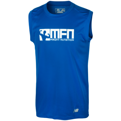 MikeFit MFN Performance Sleeveless Tee - BLUE