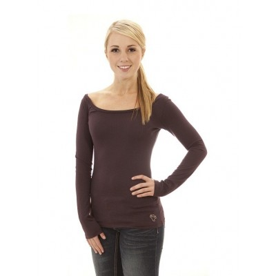 MFN Womens Boat-Neck Long Sleeve PRO - Purple