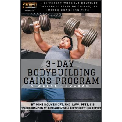 MFN BODYBUILDING GAINS - 4 Week Program - Unisex