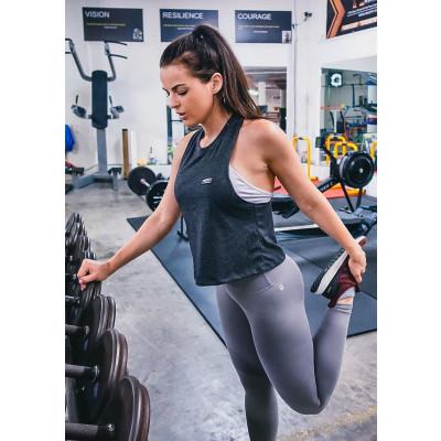 MFN Women's Cropped Muscle Tee - Black (Size Medium: 4-6)