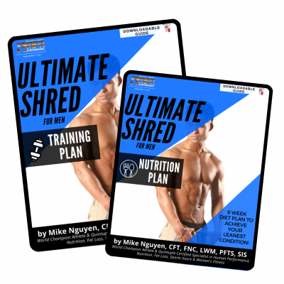 MEN'S ULTIMATE SHRED BUNDLE (BOTH Training + Nutrition Plans)