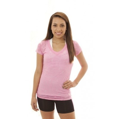 MFN Ladies Burnout Shirt - Pink