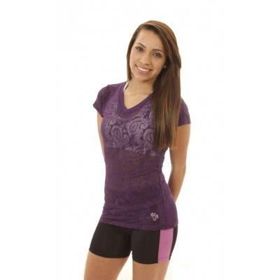 MFN Ladies Burnout Shirt - Purple
