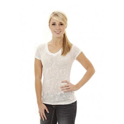 MFN Ladies Burnout Shirt - White