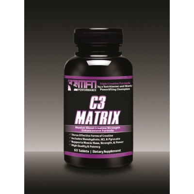 MFN PERFORMANCE C3 MATRIX (Master-Blend Creatine for Muscle Strength Performance) - 60 Tablets