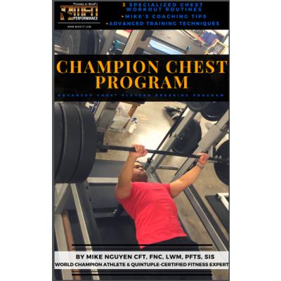 MFN CHAMPION CHEST (3 Advanced Chest Routines at GYM) - 12 Week Program - Unisex