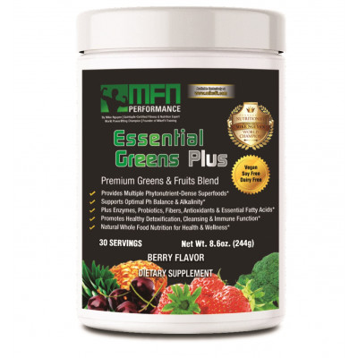 MFN PERFORMANCE ESSENTIAL GREENS (Green Super-Food Drink) - 30 Servings