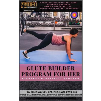 MFN GLUTE BUILDER PROGRAM (3 Advanced Workouts at GYM) - 12 Week Program - Women