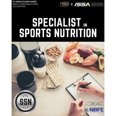 Certified Specialist in Sports Nutrition (ISSA) - PLEASE CALL TO ENROLL