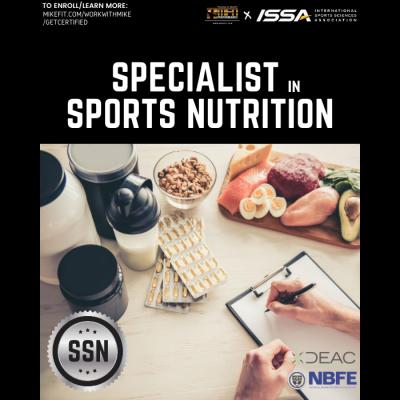 Certified Specialist in Sports Nutrition (ISSA)
