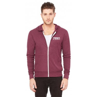 MFN Unisex Lightweight Fitted Hoodie - Maroon (Medium)