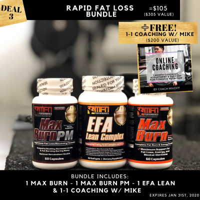 Fat Loss Supplement Bundle + FREE 1-on-1 Coaching w/Mike!