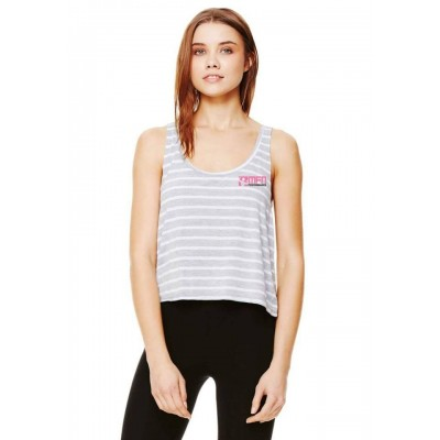 MFN Womens Cropped Tank (Grey/White)