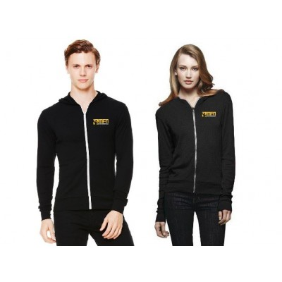 MFN Unisex Lightweight Fitted Hoodie - Black