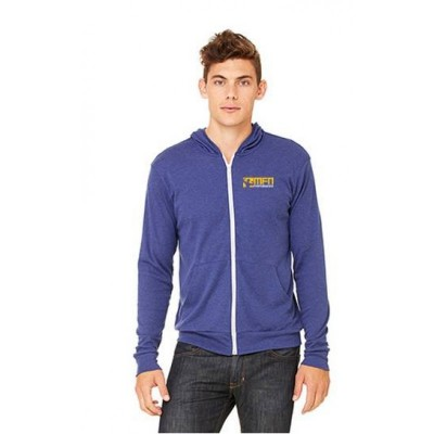 MFN Unisex Lightweight Fitted Hoodie - Blue