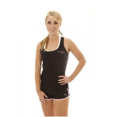 MikeFit Women's Signature Racerback Tank Top - Black